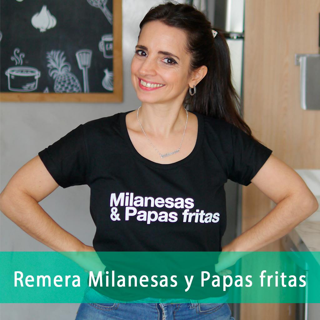 Remera Milanesas y Papas Fritas
